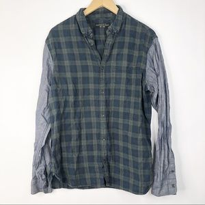 All Saints Mixed Media Button Down